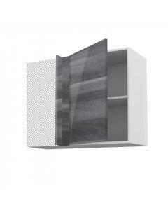 Meuble angle haut fidgi anthracite 90 cm + façade 1 PORTE 50 cm