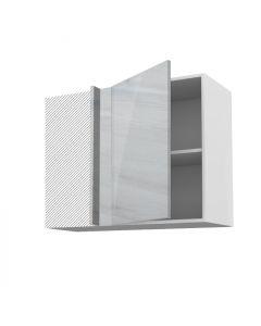 Meuble angle haut fidgi blanc 90 cm + façade 1 PORTE 50 cm
