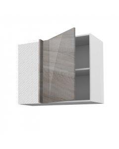 Meuble angle haut fidgi gris 90 cm + façade 1 PORTE 50 cm