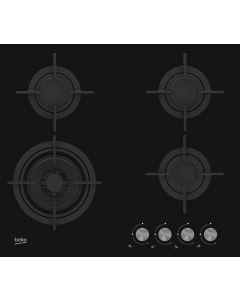 Plaque 4 Gaz Verre noir