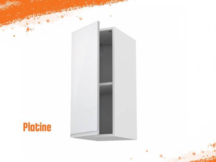 Meuble haut platine 40 cm + façade 1 PORTE