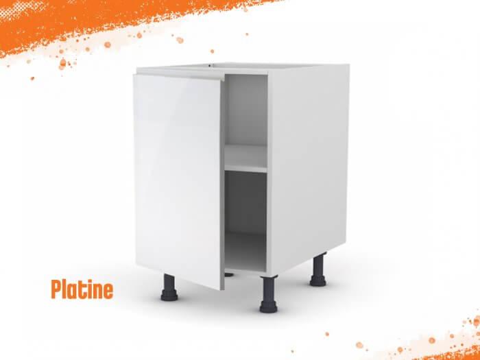 Meuble bas platine 60 cm + façade 1 PORTE