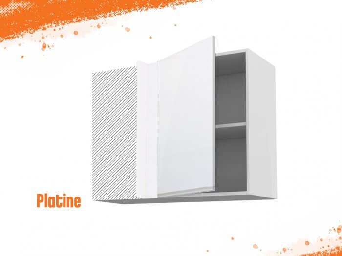 Meuble angle haut platine 90 cm + façade 1 PORTE 50 cm
