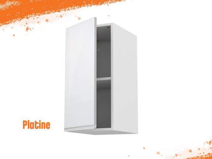 Meuble haut platine 50 cm + façade 1 PORTE