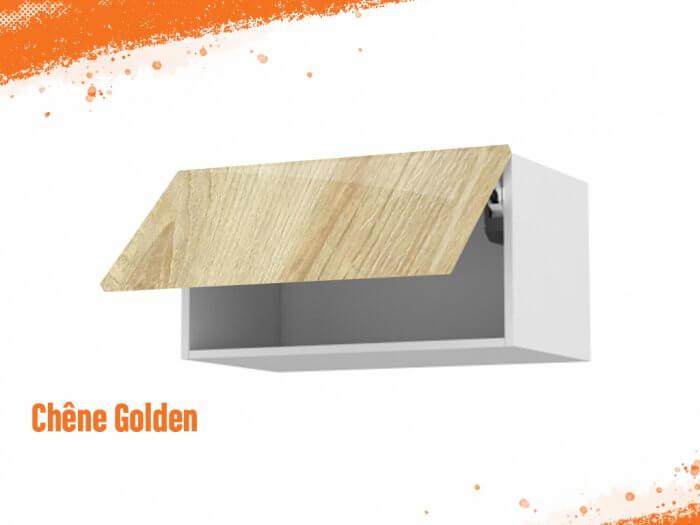 Meuble haut chêne golden 80 cm + façade 1 Porte relevante