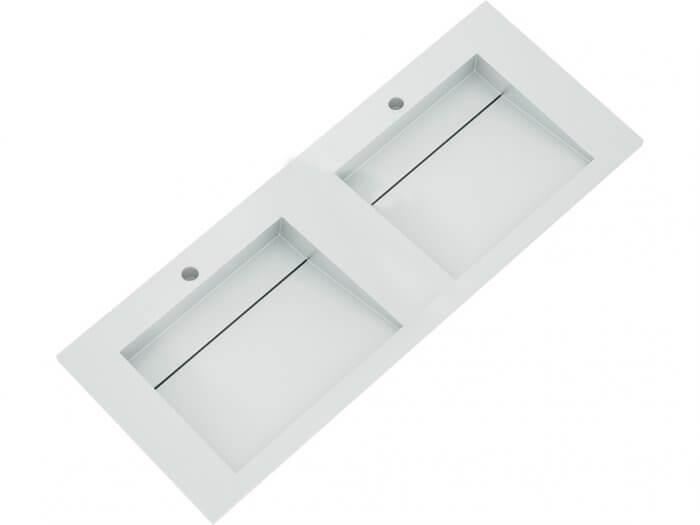 Vasque à encastrer Solid Surface blanche 120 cm
