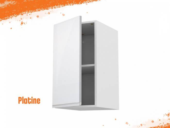 Meuble haut platine 60 cm + façade 1 PORTE