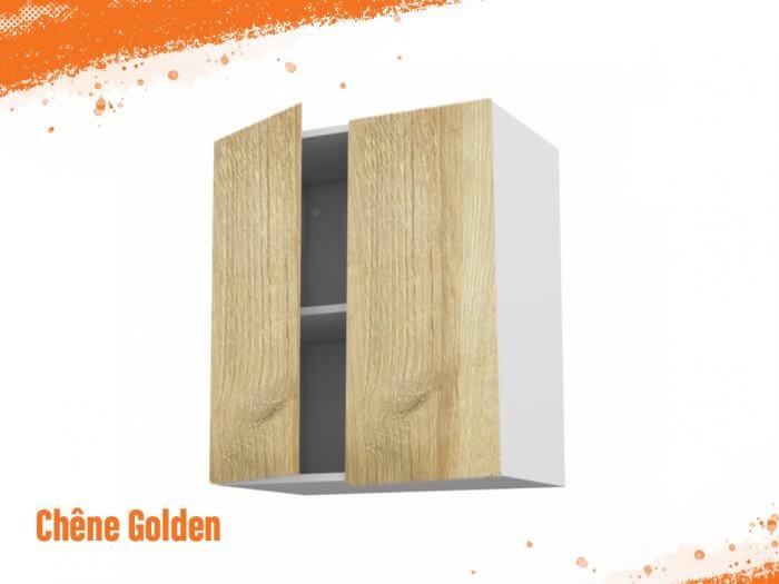 Meuble haut chêne golden 80 cm Deux Portes