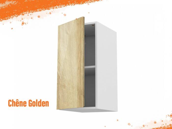 Meuble haut chêne golden 50 cm + façade 1 PORTE