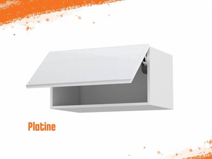 Meuble haut platine 80 cm + façade 1 Porte relevante