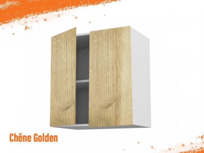 Meuble haut chêne golden 90 cm Deux Portes