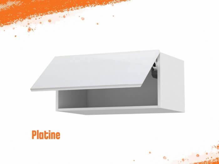 Meuble haut platine 90 cm + façade 1 Porte relevante