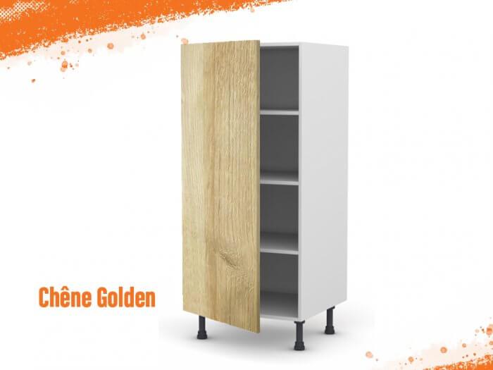 Meuble Armoire chêne golden 60 cm