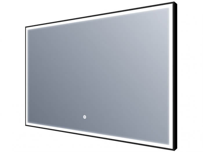Miroir led - Éclairage sur tout le contour - bords noirs- 80x60cm