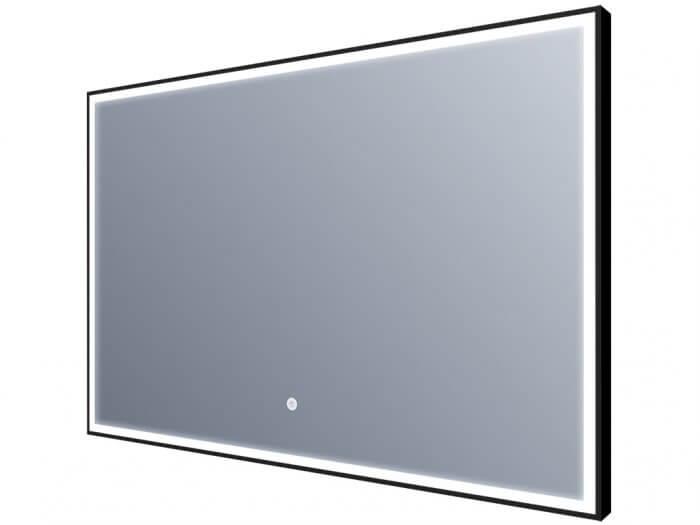 Miroir led - Éclairage sur tout le contour - bords noirs- 120x60cm