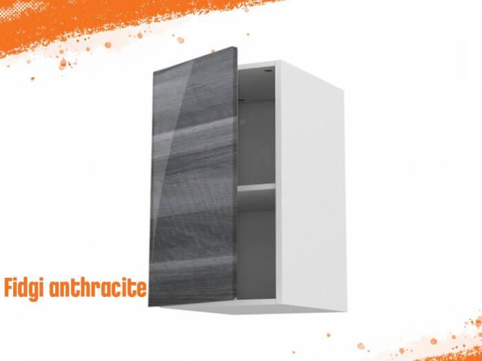 Meuble haut fidgi anthracite 60 cm + façade 1 PORTE