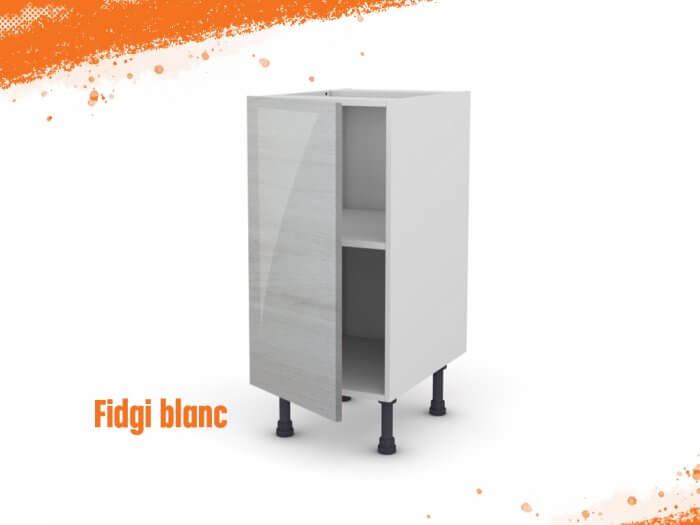 Meuble bas fidgi blanc 30 cm + façade 1 PORTE
