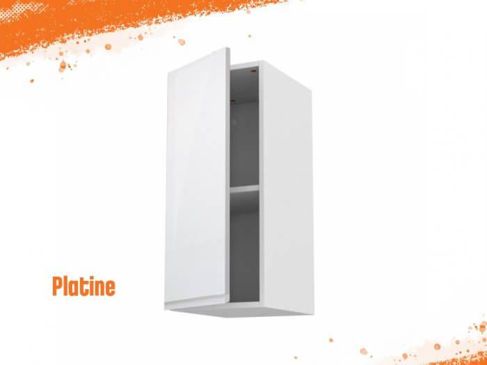 Meuble haut platine 30 cm + façade 1 PORTE
