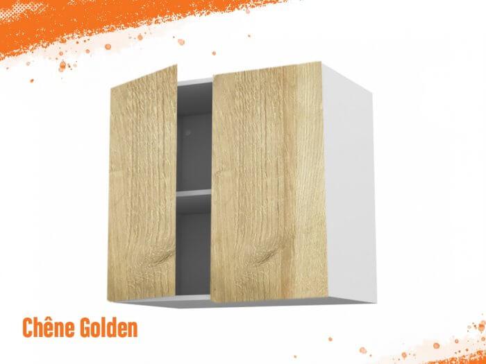 Meuble haut chêne golden 100 cm Deux Portes