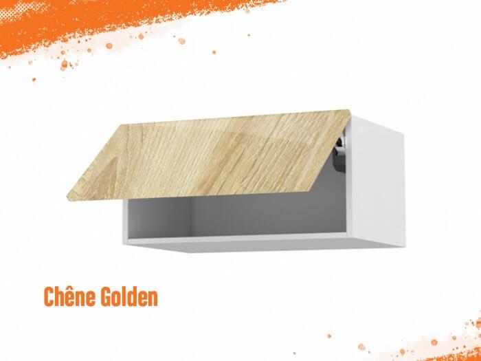Meuble haut chêne golden 90 cm + façade 1 Porte relevante